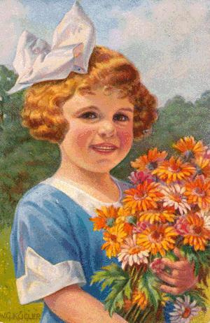 Ein Blumenstrauss vermittelt Freude im Leben