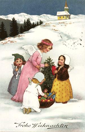 Es engelt so vor sich hin: Weihnachtliche Vorfreude in weißer Landschaft