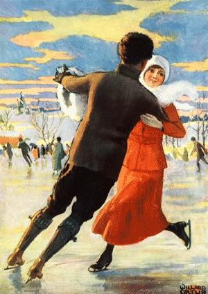 Schlittschuhlaufen der Hit der winterlichen Saison