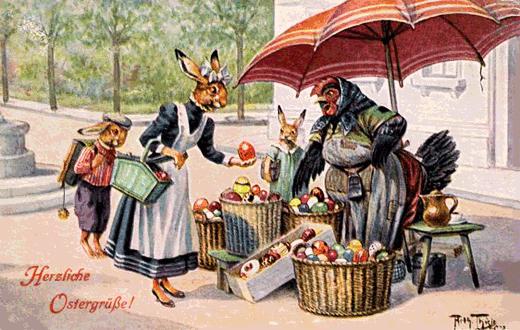Ein frohes und gesundes Osterfest wünschen die Mitarbeiter vom Wolleshop Du-meine Wolle